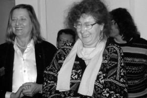 Helma Sanders-Brahms, présidente du jury et réalisatrice de ALLEMAGNE MÈRE BLAFARDE, avec Christine Renaud, monteuse et présidente du jury des lycéens