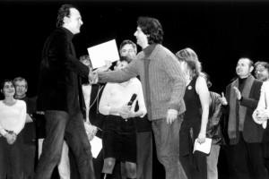 Jean-Pierre Améris (président du jury) et Leonardo Di Cesare pour BUENA VIDA DELIVERY, grand prix du jury