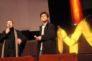 Gaël Labanti et Sébastien Etienne présentent le ciné-concert en partenariat avec La Presqu'ile