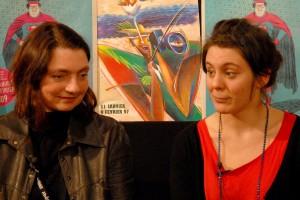 Solveig Anspach et Louise Blachère, présidentes des jury et jury lycéen, invitées sur le plateau de MJCrew TV