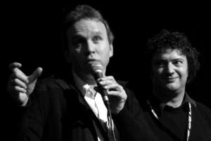 Frédéric Ledoux et l'acteur Nicolas Buysse présentent UNE CHAINE POUR DEUX (1er film en compétition - Belgique)