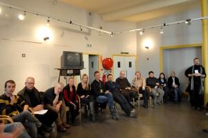Au 1er étage du théâtre, rencontre du public avec tous les invités de la compétition internationale