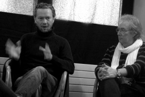 Le réalisateur Miika Soini (THOMAS - Finlande) et l'acteur Gilbert Sicotte (CONTINENTAL, UN FILM SANS FUSIL - Canada)