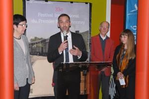 Vendredi 5 février, inauguration officielle du 33ème Festival : au micro, Simon Plénet, pour Annonay Agglo et le Conseil départemental de l'Ardèche