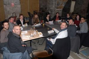 Premier repas servi au Nid pour l'équipe du Festival