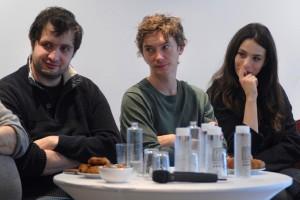 Dimanche 7 février, rencontre au Domaine de St-Clair, de gauche à droite : Karim Leklou, Swann Arlaud, Doria Achour