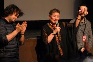 3000 NUITS présenté par la comédienne palestinienne Khitam Edelbi et le directeur de la photo Gilles Porte