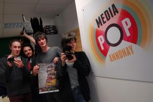 L'équipe Mediapop prête pour le 48h tout court : Romain, Emmanuel, Hugues et Alicia