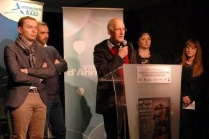 Inauguration officielle : Gabriel Trombert, président de la MJC d'Annonay