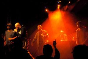 À la Presqu'ile, concert du groupe fondé par Hamé et Ekoué, LA RUMEUR