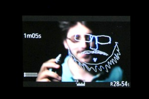 À Mediapop, l'installation du dispositif « Dessine-toi » imaginé par Gilles Porte