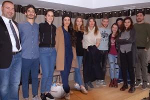De gauche à droite : Gaël Labanti, Hamza Meziani, Noémie Merlant, Lina El Arabi, Joséphine Japy, Nelly Antignac, Rabah Naït Oufella, Luna Lou, Slimane Dazi, Manal Issa, Sébastien Houbani