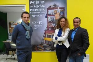 De gauche à droite : Laurent Aït Benella, Nawal et Abou Lagraa