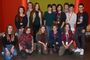 Le jury des lycéens, avec Camille, assistante du Festival
