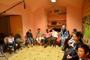 "Classes ""Mon premier film"" : atelier bruitage"