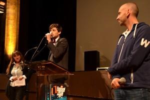 Vincent Primet (Domaine de St-Clair) et Brice Sodini (Mediapop) présentent le lancement du 48h tout court