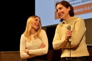 La comédienne Laetitia Clément et la réalisatrice Elsa Diringer