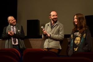 Le réalisateur Mikael Buch et son comédien Nils Othenin-Girard, pour SIMON ET THÉODORE