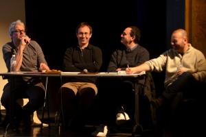 De gauche à droite : Sylvain Chomet, François Lignier, Laurent Valière, Gaël Labanti
