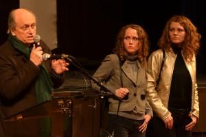 De gauche à droite : Jérome, Clara et Laura Laperrousaz