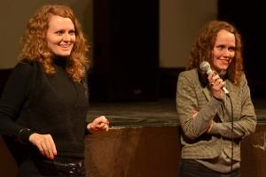 De gauche à droite : Laura et Clara Laperrousaz