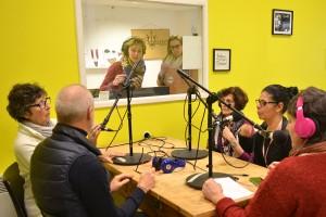 Table ronde avec Nadia, Nicole, Dominique et Jean-Luc de la Commission Cinéma de la MJC, bénévoles sur le Festival
