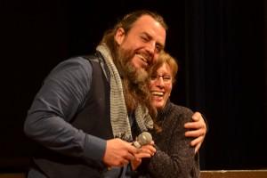 Mirko Frezza, comédien du film italien IL PIU GRANDE SOGNO, et sa traductrice (oups j'ai oublié son nom... à venir...)