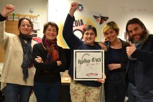 Sabrina, Sylviane, Frédérique, Julie et Mirko, pour Radio d'ici !