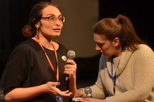Egle Vertelyte, réalisatrice du film lituanien MIRACLE, et Florence pour la traduction