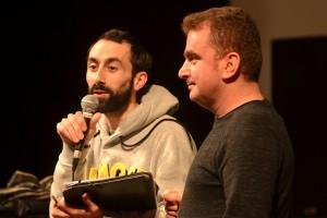 Le réalisateur Sahim Omar Kalifa pour ZAGROS, et Julien pour la traduction