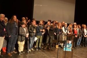 Tous sur scène : les invités, l'équipe du Festival et de la MJC