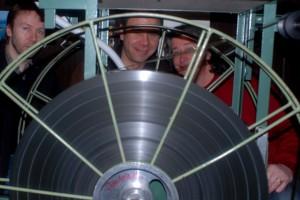 Aux bobines : Colin, Pascal, Jean-Louis (projectionnistes)