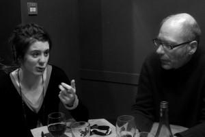 L'actrice Louise Blachère, présidente du jury lycéen, avec Philippe Fernandez (LÉGER TREMBLEMENT DU PAYSAGE)
