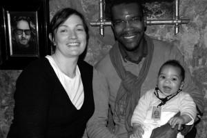 La distributrice Stéphanie Roux (INSOMNIA), avec Jean-Luc et Malcolm, le plus jeune spectacteur du Festival