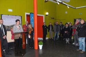 Vendredi 5 février, inauguration officielle du 33ème Festival : au micro, Antoinette Scherer, pour la Ville d'Annonay