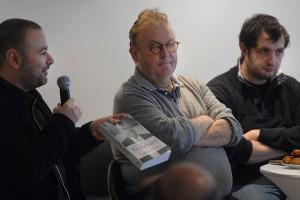 Dimanche 7 février, rencontre au Domaine de St-Clair, de gauche à droite : Gaël Labanti, Dominique Besnehard, Karim Leklou