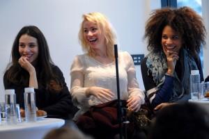Dimanche 7 février, rencontre au Domaine de St-Clair, de gauche à droite : Doria Achour, Maud Baecker, Stéfi Celma